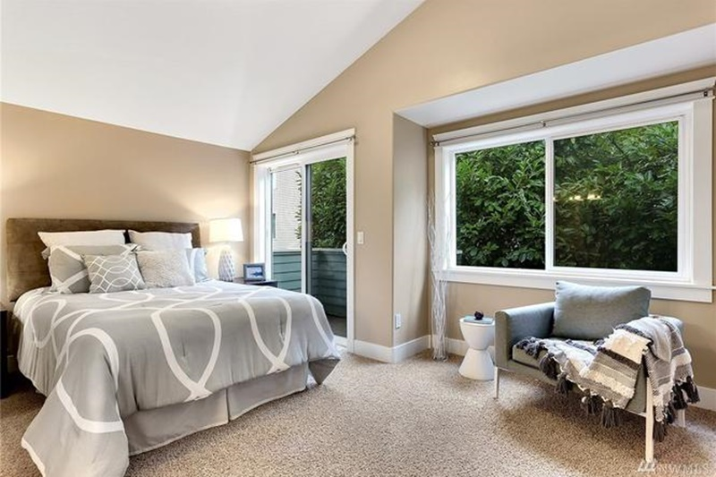 bedroom staging