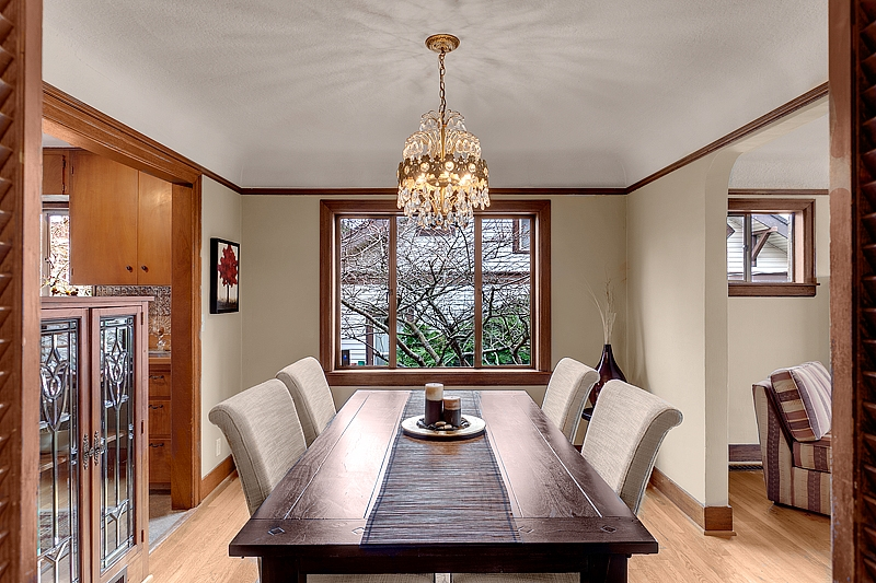 dining room staging